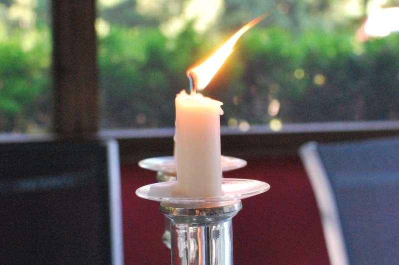 Lit Shabbat candles